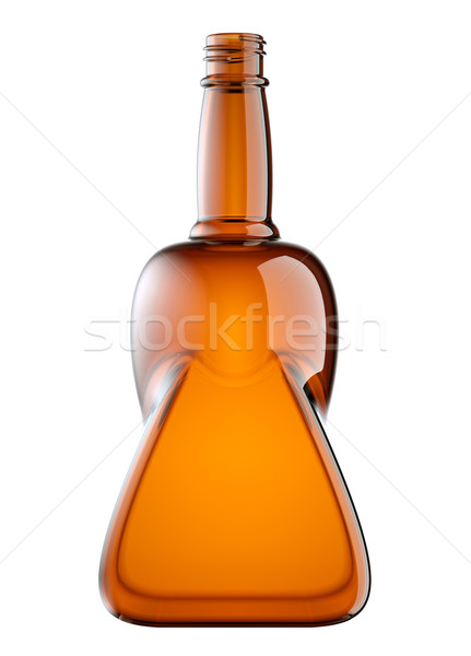 Rouge verre bouteille booze isolé blanche Photo stock © Arsgera