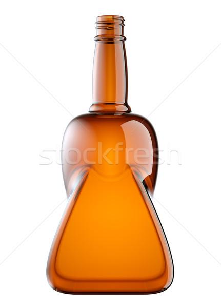 Vermelho vidro garrafa bebida alcoólica isolado branco Foto stock © Arsgera