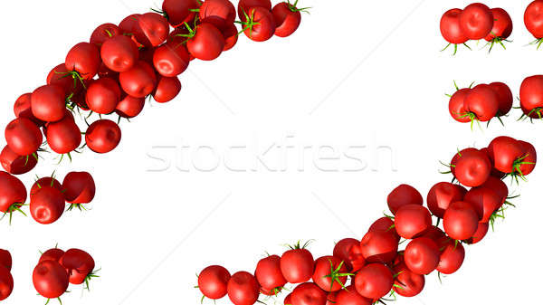 Stock photo: Red Tomatoe Cherry flows isolated