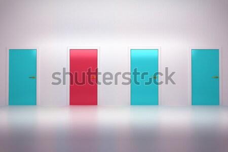 Kans drie deuren kamer muur Stockfoto © Arsgera