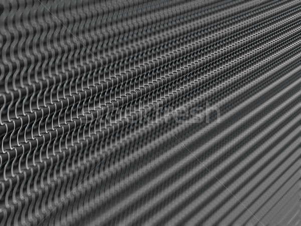 Metallic scales texture or background with shallow DOF Stock photo © Arsgera