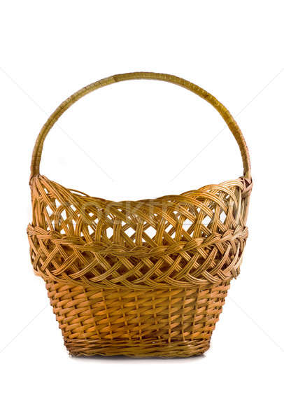 Beautiful woven basket for food isolated over white  Stock photo © Arsgera