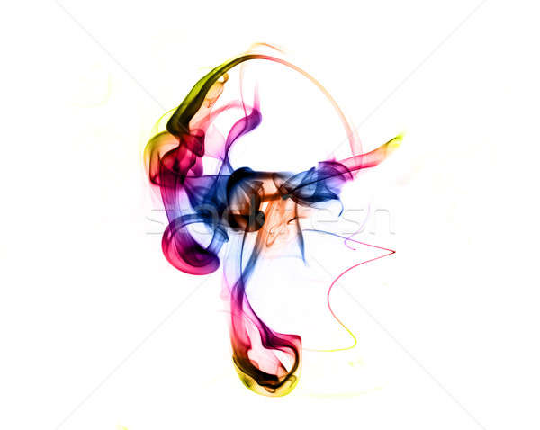 Magic gradient colored fume abstract shape  Stock photo © Arsgera