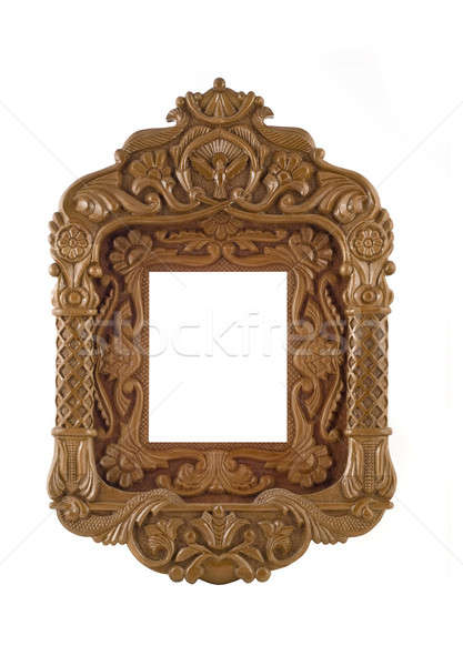 Wooden carved Frame for picture useful as icon case Stock photo © Arsgera