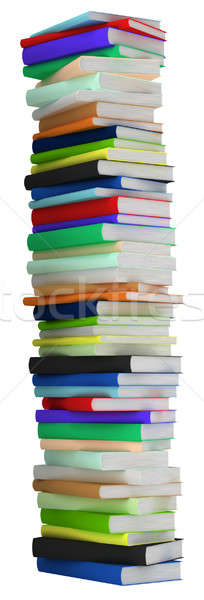 Education and wisdom. Tall heap of hardcovered books Stock photo © Arsgera
