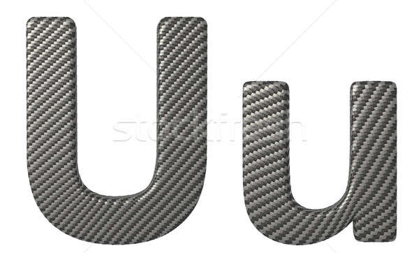 Carbon fiber font U lowercase and capital letters Stock photo © Arsgera