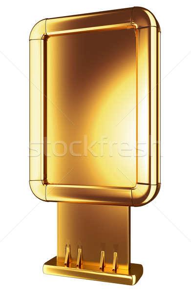 Golden Billboard or lightbox isolated  Stock photo © Arsgera