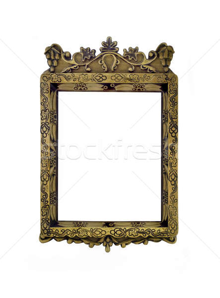 Empty vertical carved frame for picture or portrait isolated  Stock photo © Arsgera