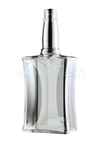 Botella whisky ron aislado blanco beber Foto stock © Arsgera