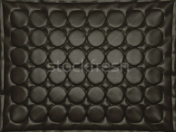 Bumped black leather background with circles Stock photo © Arsgera