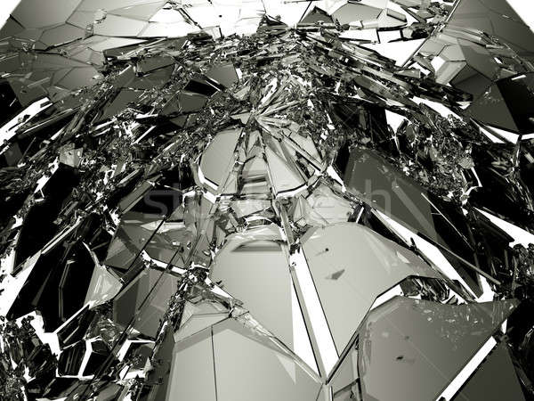 Pieces of demolished or Shattered glass  Stock photo © Arsgera