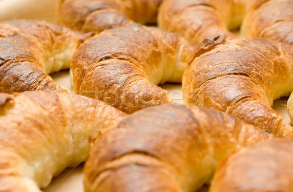 вкусный круассаны полумесяц завтрак время Сток-фото © Arsgera