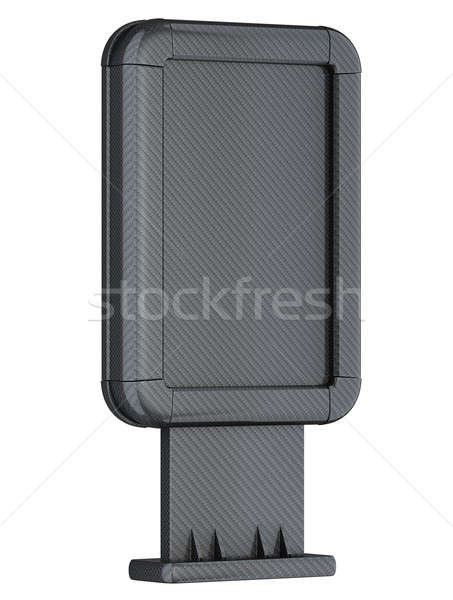 Carbon fibre advertising lightbox on stand isolated Stock photo © Arsgera