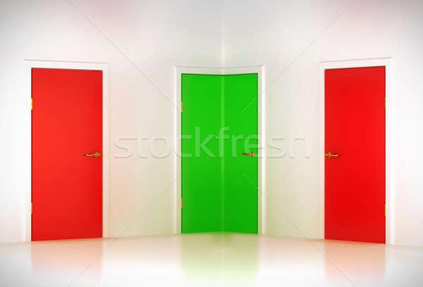 Corregir elección esquina puerta resumen habitación Foto stock © Arsgera