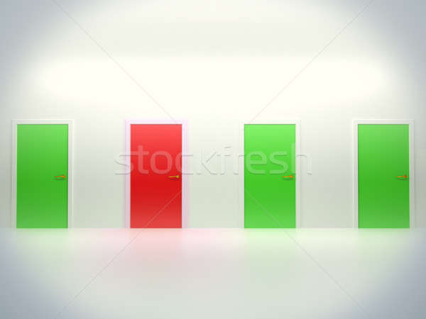 Opportunity: four conceptual doors Stock photo © Arsgera