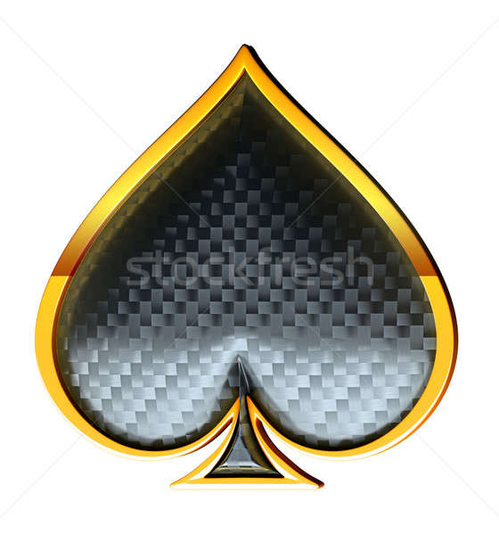 Spades textured card suits  Stock photo © Arsgera