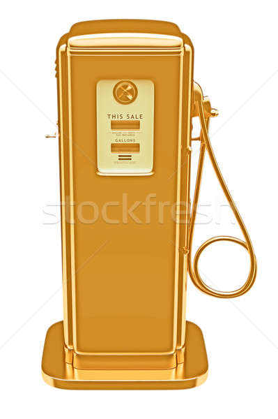 Valuable fuel: golden gas pump isolated  Stock photo © Arsgera