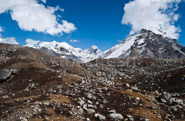 堆石 ヒマラヤ山脈 ショット 高さ 風景 雪 ストックフォト © Arsgera