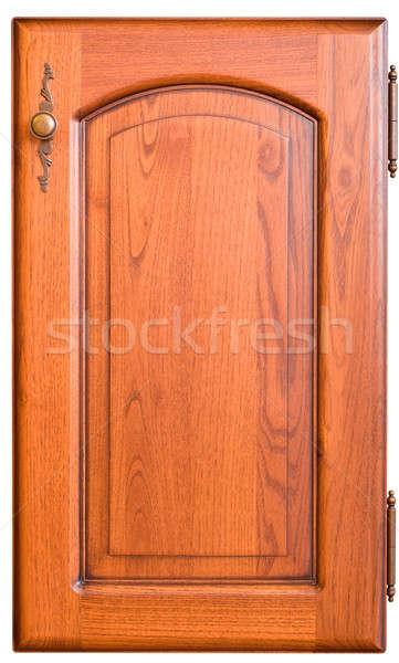 Wooden furniture door with handle Stock photo © Arsgera