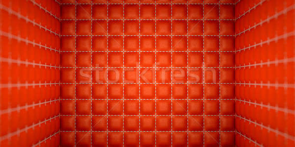 Isolation and segregation: Red stitched leather mattresses Stock photo © Arsgera