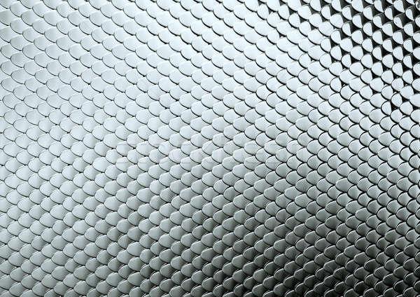 Textured Scales or squama metallic background Stock photo © Arsgera