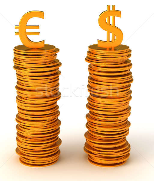Currency equality - US dollar and Euro Stock photo © Arsgera