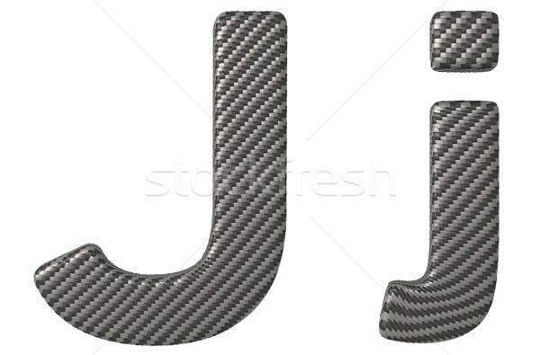 Carbon fiber font J lowercase and capital letters Stock photo © Arsgera