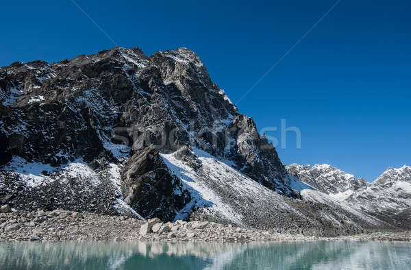Mountain and Sacred Lake near Gokyo in Himalayas Stock photo © Arsgera