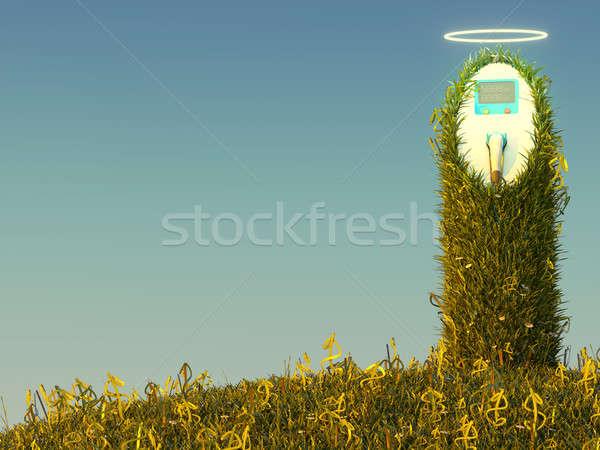 ストックフォト: 駅 · 草原 · ドル · 草 · お金