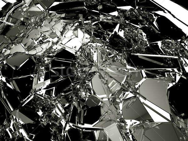 Sok darabok törött törött üveg fehér nagy Stock fotó © Arsgera