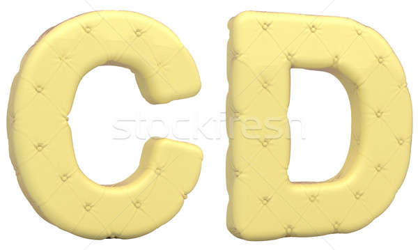 Luxury soft leather font C D letters isolated Stock photo © Arsgera