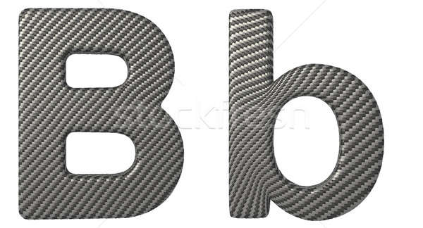 Carbon fiber font B lowercase and capital letters Stock photo © Arsgera