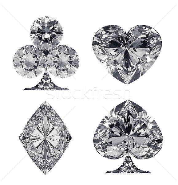 Diamond shaped Card Suits isolated Stock photo © Arsgera