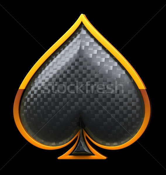 Spades textured card suits over black Stock photo © Arsgera