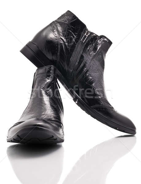 Pair of leather mens boots on white  Stock photo © Arsgera