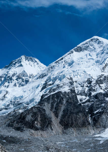 Peaks not far Gorak shep and Everest base camp Stock photo © Arsgera