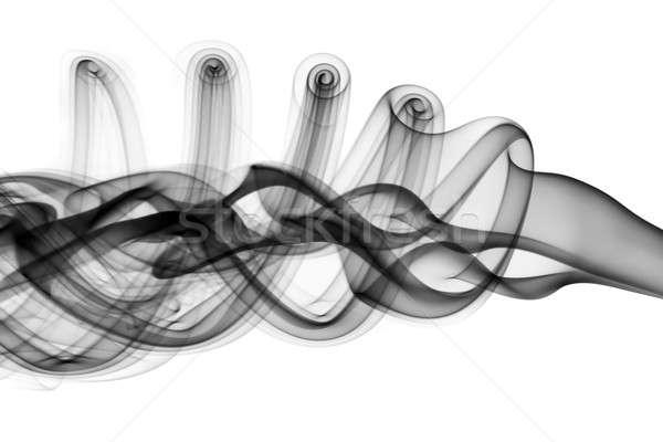 Abstract black fume waves  Stock photo © Arsgera