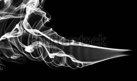 Absztrakció fehér füst örvények minta fekete Stock fotó © Arsgera
