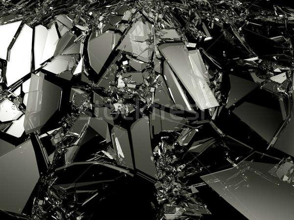 Accident pièces verre brisé noir résolution Photo stock © Arsgera