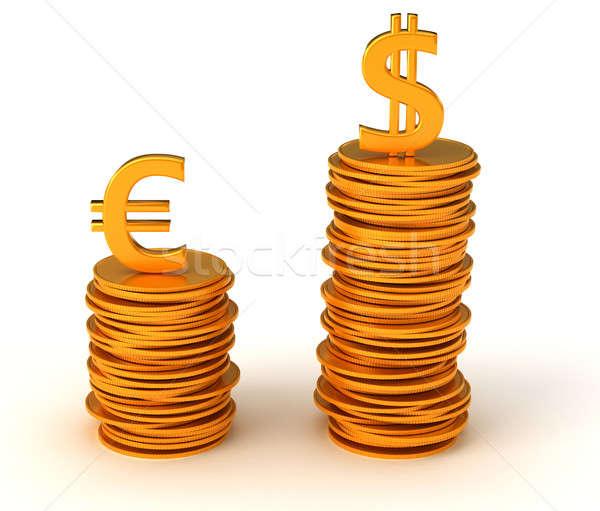 Dominance of USA Dollar over Euro Stock photo © Arsgera