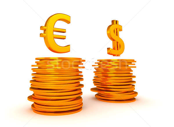 Euro Currency and US dollar equation Stock photo © Arsgera