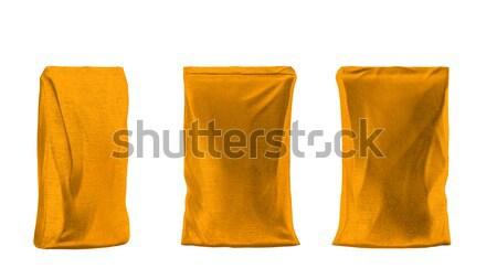 4 Golden sacking packs for coffee or tea Stock photo © Arsgera