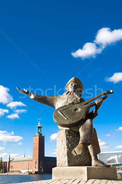 Stockholm city hall and Evert Taubes terrass Stock photo © Arsgera
