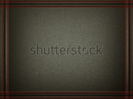 Black leather background with stitched red frame Stock photo © Arsgera