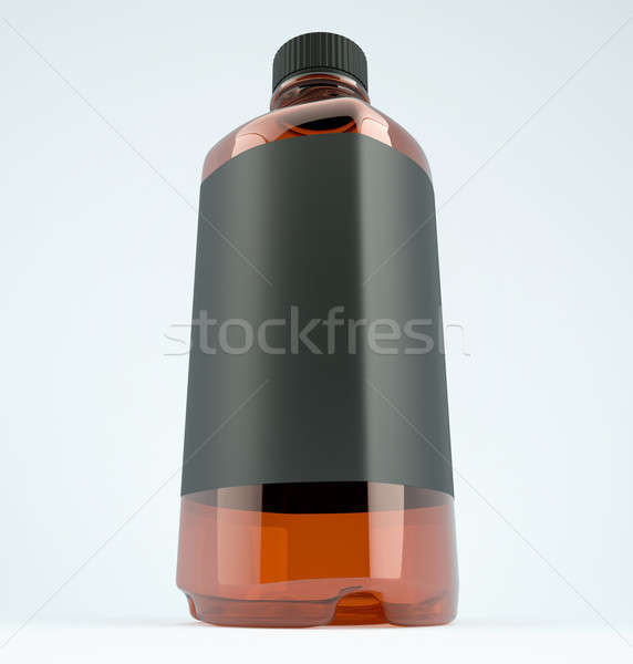 Bottle for chemicals or fluid: Wide angle shot Stock photo © Arsgera