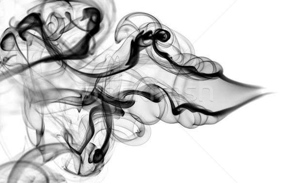 Abstração padrão preto fumar forma curvas Foto stock © Arsgera