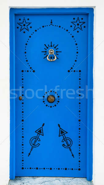 Andalusian style Blue door from Sidi Bou Said Stock photo © Arsgera