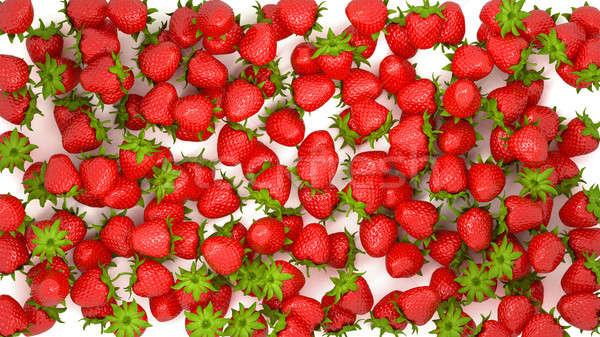 Stock fotó: Friss · eper · textúra · fehér · étel · háttér
