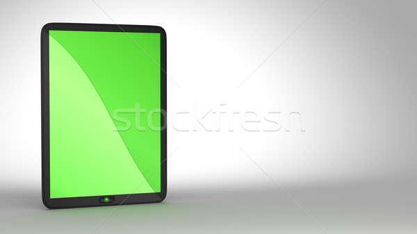 Tablet PC with green colored screen Stock photo © Arsgera