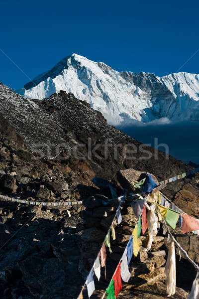 On the top of Gokyo Ri: Peaks and clouds Stock photo © Arsgera